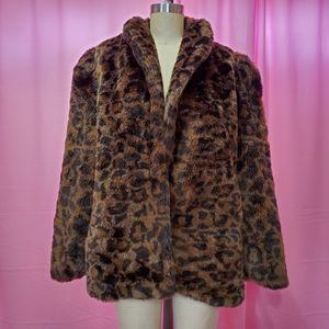 Lulu vintage cheetah faux fur coat